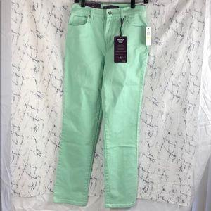 NWT Gloria Vanderbilt Mint Green Jeans Amanda